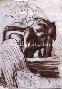 8110622s_ronnie_wood_drawing_elephant_pastel_paper_w